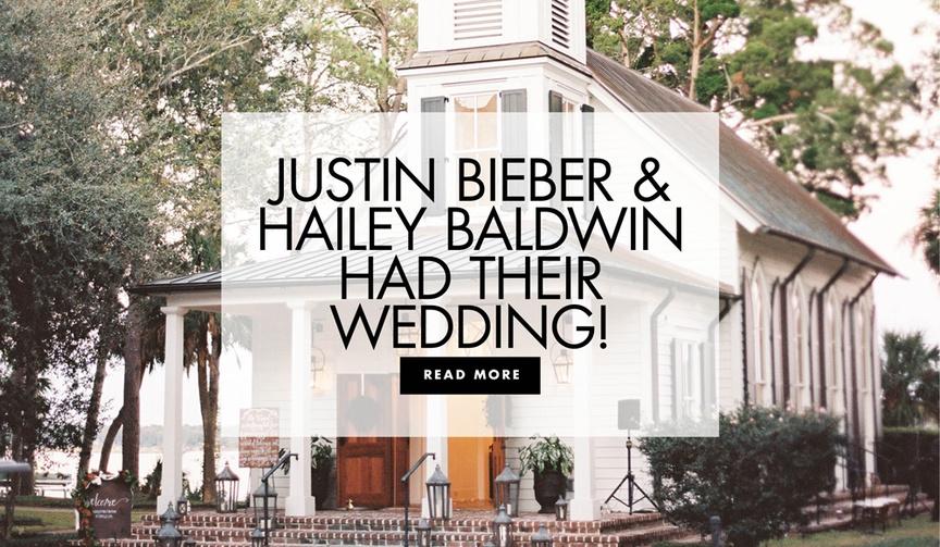 justin bieber and hailey baldwin had their wedding bluffton south carolina wedding