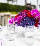 pink, red and purple flower centerpiece