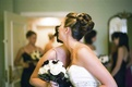 Bride wearing knotted bun updo