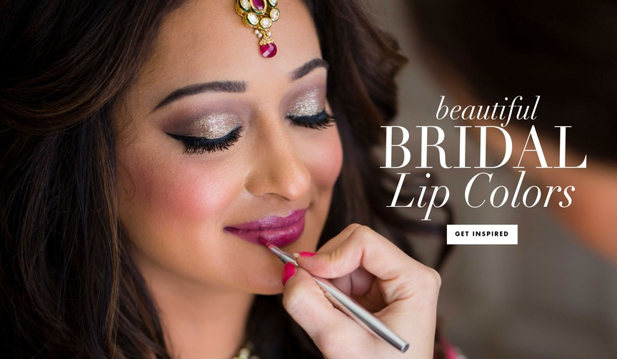 Wedding beauty lipstick lip color ideas for brides