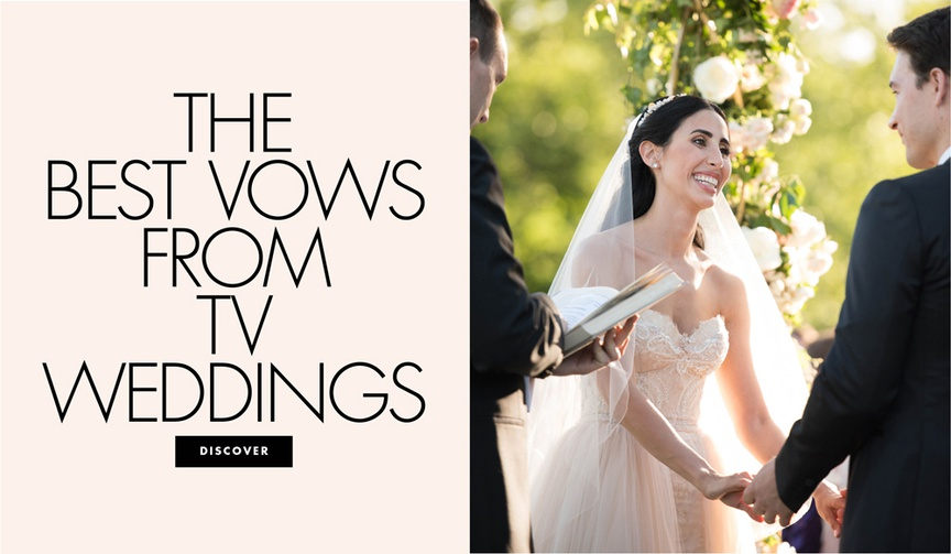 The best vows from tv weddings romantic and touching vows from television shows