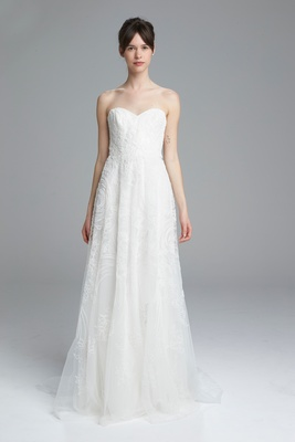 Amsale Spring 2017 Sam Strapless A Line Wedding Dress With Sweetheart Neckline And Embroidery
