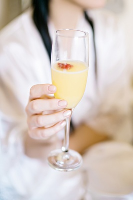 morning mimosa getting ready for wedding strawberry champagne british english pink blush nail style