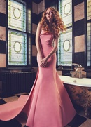 Sareh Nouri Spring 2018 bridal collection Peony wedding dress pink trumpet faille dress