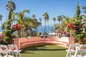 vibrant seaside ceremony venue florals la valencia hotel la jolla california spanish influences