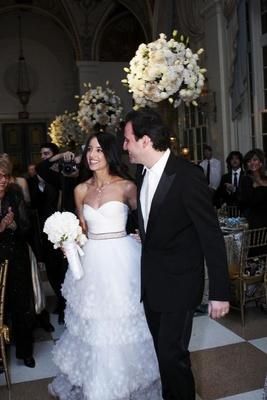 Bride and groom at The Breakers Mediterranean Ballroom
