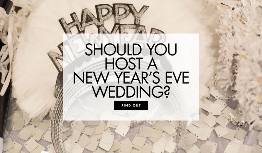pros and cons of a new year's eve wedding, should you throw a new year's eve wedding