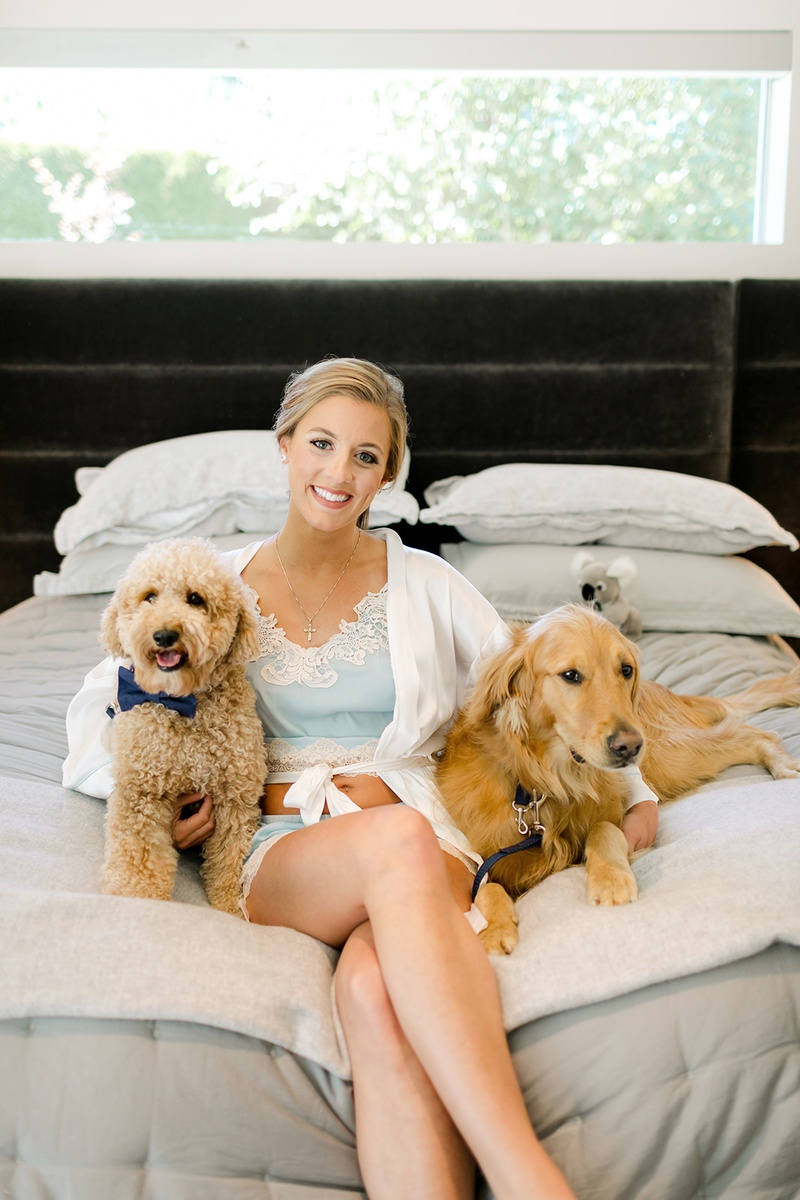la rams brandin cooks' wife briannon lepman with dogs before the wedding