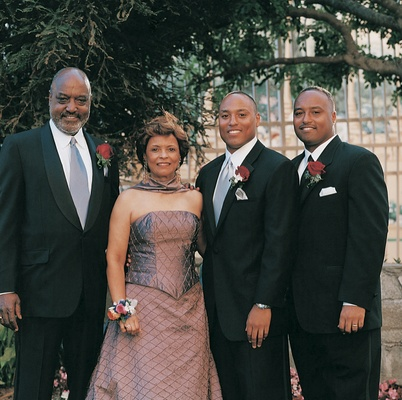 Best man and groom's mother and father
