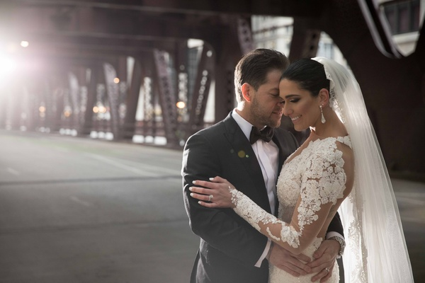 Angelica and Marc had a cold January wedding, but using some creative lighting we made their wedding