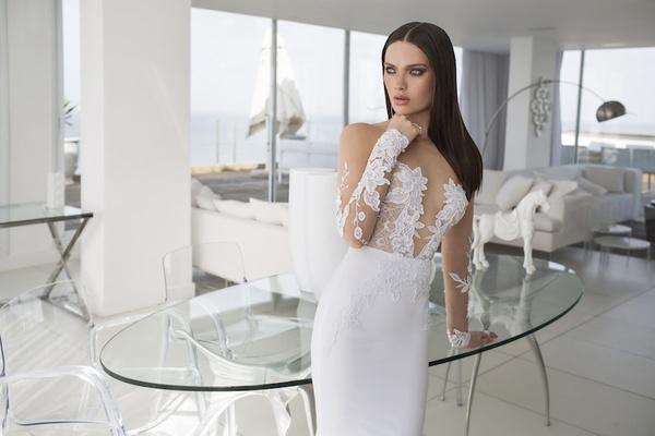 8685d0d980d Alexa wedding dress by Julie Vino Quartet Collection.