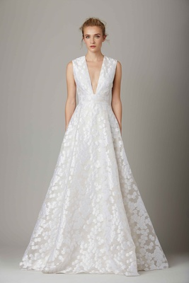 The Lake V Neck A Line Wedding Dress By Lela Rose Fall Winter