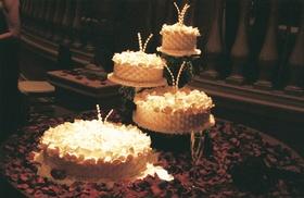 French Baskets four layer wedding cake