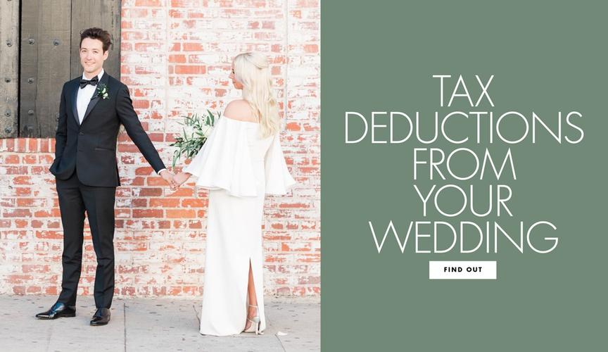 a9193d9f45e Find out what tax deductions you can get from your wedding. Quick Read.  Preview this post