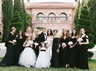 cheryl burke and matthew lawrence wedding photo with moms and attendants black dresses leah remini
