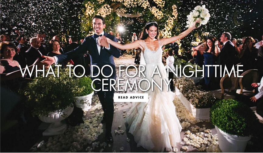 What to do for a nighttime ceremony wedding ideas and advice outdoor wedding at night