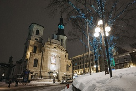 Quebec City wedding venue idea former catholic chapel with stained glass windows