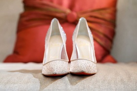 Christian Louboutin sheer pumps with crystal rhinestones