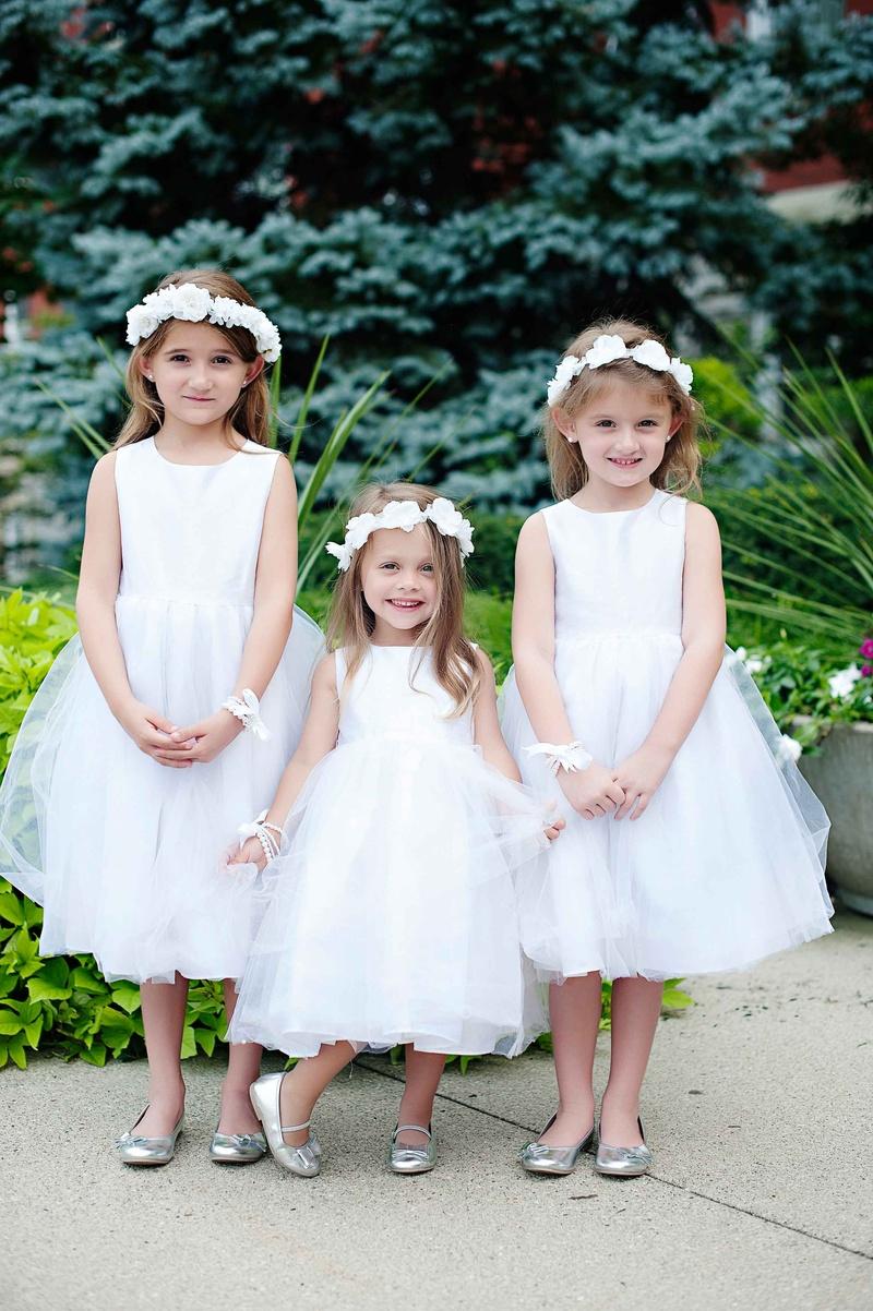 Flower Girls Ring Bearers Photos White Flower Girl Dresses With