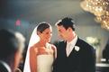 Bride and groom at indoor Jewish ceremony