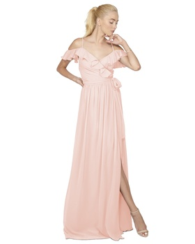 This off the shoulder ruffle wrap dress is the ultimate in femenine, bohemian beauty. Show off your