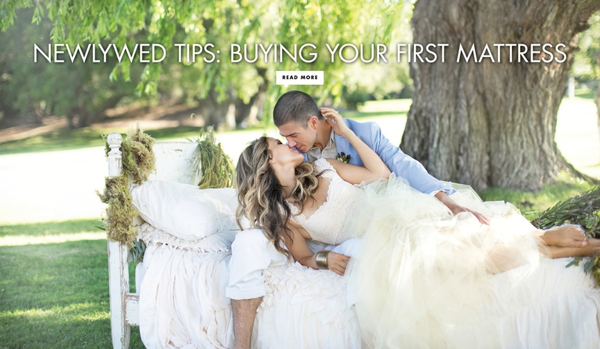Newlywed tips for buying your first mattress together as a married couple