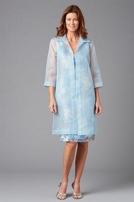 Siri Spring 2016 mother of the bride dress blue Serenade coat
