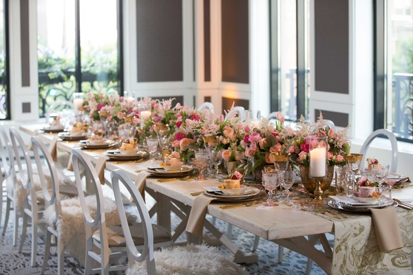 Debi Lily created this spring awakening inspired table at the Waldorf Astoria, Chicago.