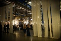 Wedding reception with sheer fabric panels at the former Philadelphia Navy Yard