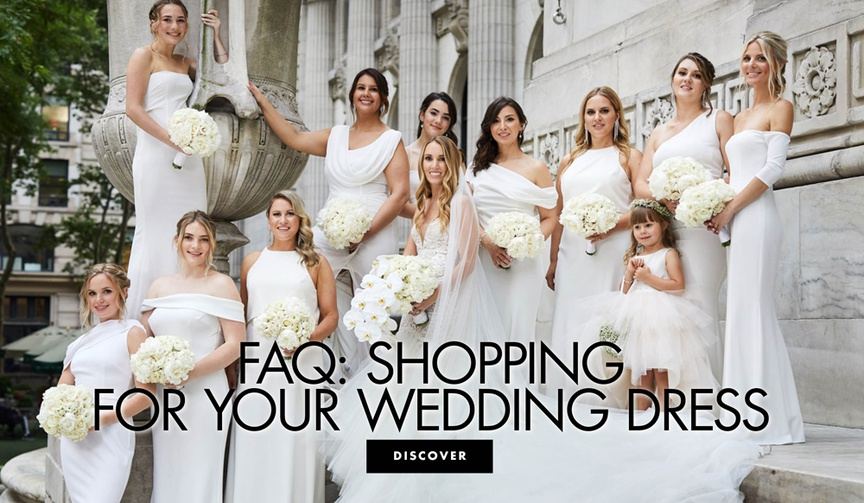 frequently asked questions shopping for your wedding dress