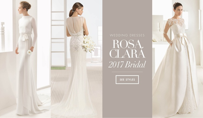 Wedding dresses from 2017 bridal collection by Rosa Clara Bridal