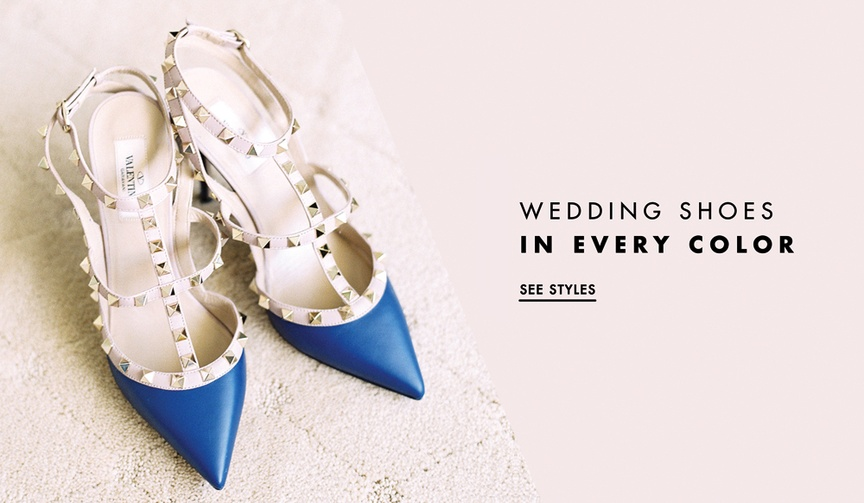 Shoes that will add color to your bridal ensemble.