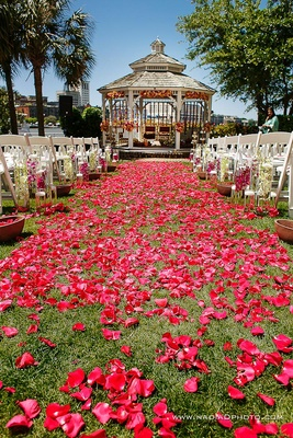 Harbor Lawn and Gazebo with Flowers