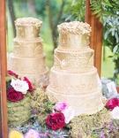 golden wedding cake designs frosting mirror florals celtic wedding