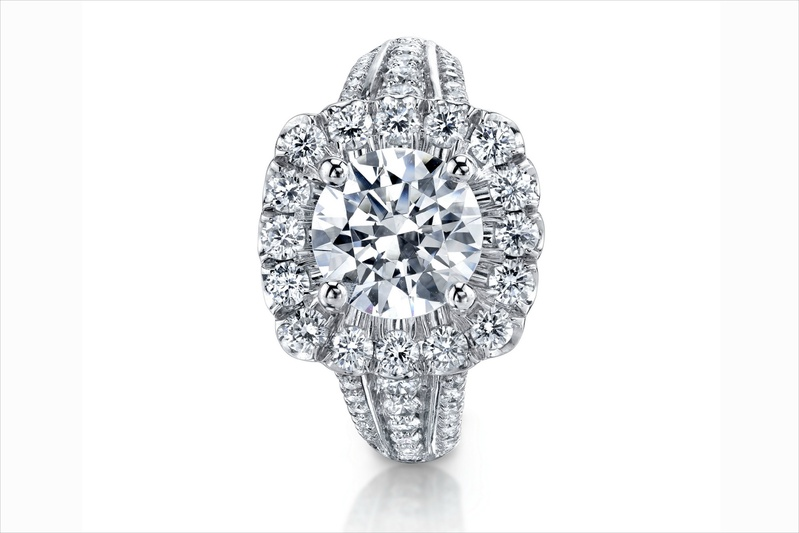 Coast Diamond halo diamond engagement ring with diamond setting