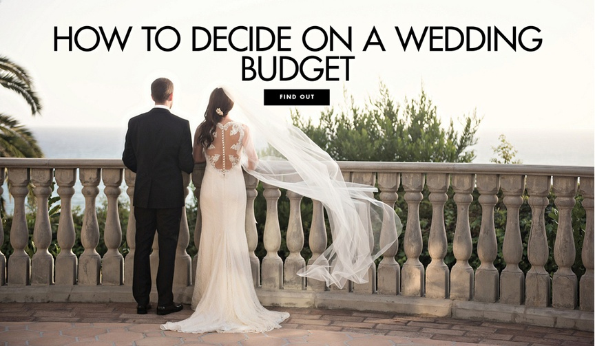 How to decide on a wedding budget spending limit