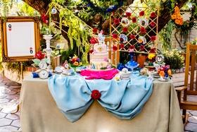 alice in wonderland inspired dessert table