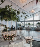 hotel maya wedding reception, modern wedding with tropical touches