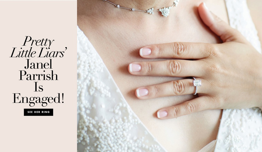 See her ring and read some of our predictions for her wedding.
