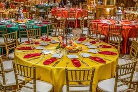 Pithi-Sangeet vibrant dinner table decorations