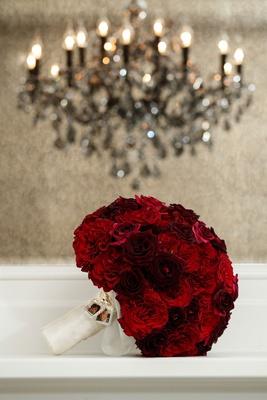 bridal bouquet wedding flowers red roses dark crimson flower bouquet