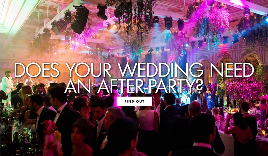 Find out if your wedding needs to have an after-party!