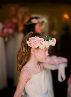 Junior bridesmaid crown of flowers