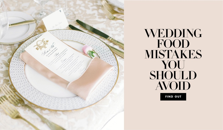 Wedding food mistakes you should avoid