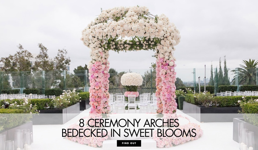 8 floral arches ceremony sweet spring springtime weddings wedding season flowers bloom blossoms