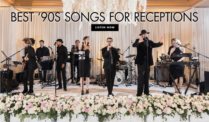 best 1990s songs for wedding receptions to get guests on the dance floor