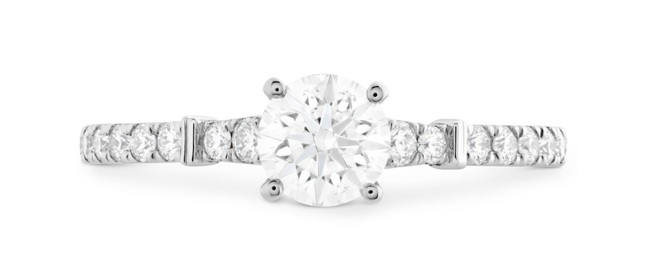 Hearts On Fire Cali Chic solitaire round diamond Rope engagement ring