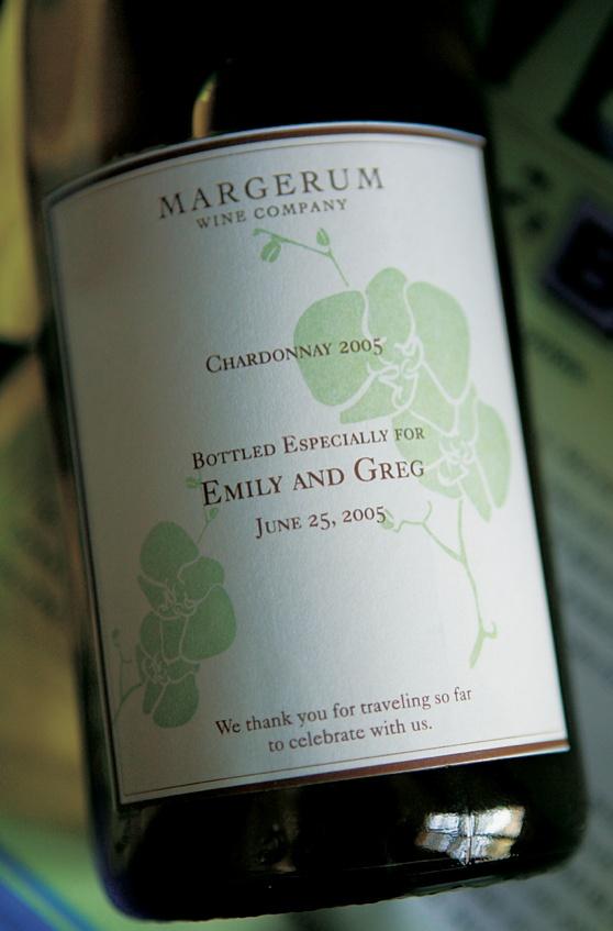 Margerum Wine Company favor bottles