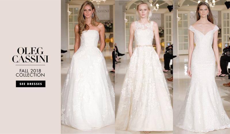 d4e04eb372d4 Wedding Dresses Photos - Oleg Cassini Fall 2018 Collection - Inside ...