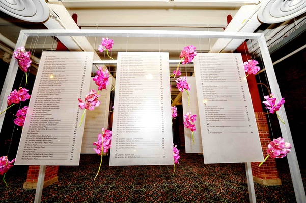 Names in alphabetical order with table numbers